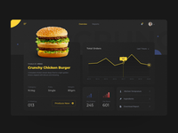 Dashboard - Food Overview Dashboard UI