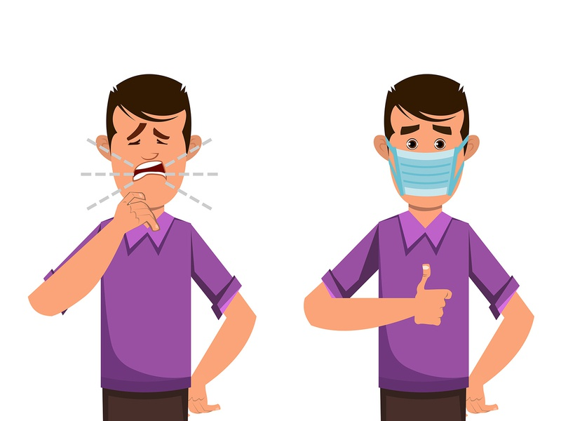 boy coughing and wearing protective face mask hand sanitizer sanitizer disinfection hygienic cleaning sanitary gel hygiene protection liquid washing wash care clean safety healthy person health medical man