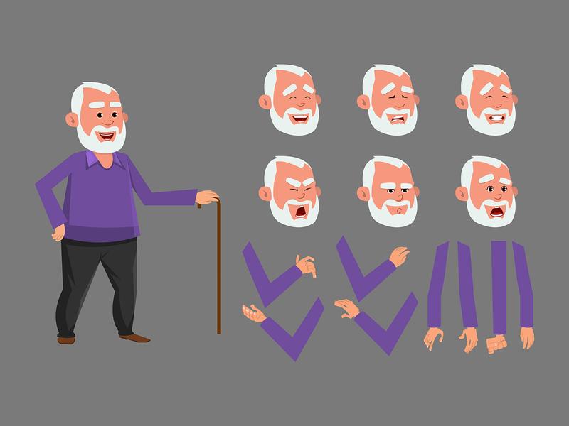 Old man custom character set