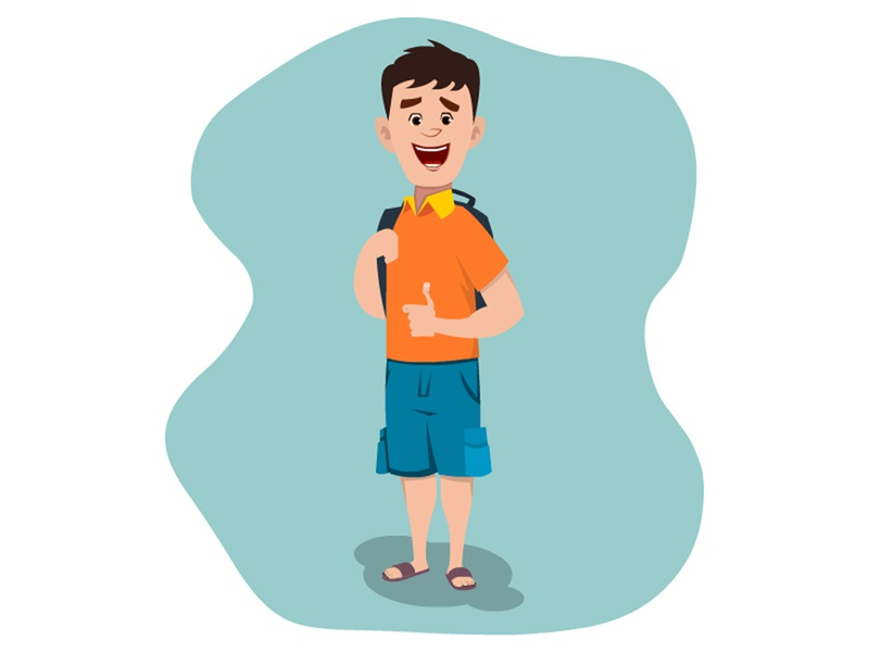 Cute School Boy Character. illustrator drawing cartoon vector design digital art character illustration character design animation