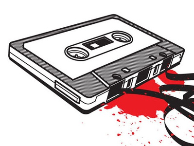 Crashed Audio Cassette