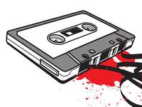Crashed Audio Cassette
