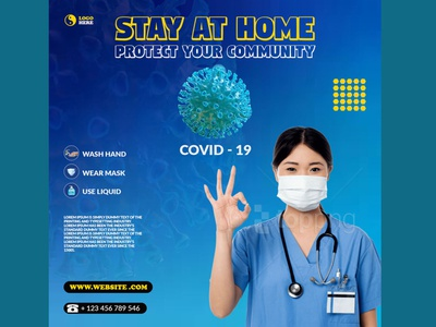 Stay at home typography graphic design design