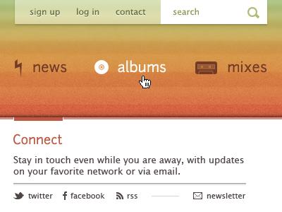 Ditty web website texture music