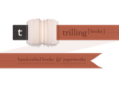 Trilling Books books banner ribbon texture