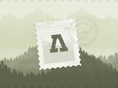Audiotree Outbound stamp postal email newsletter tree trees