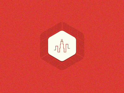 App Challenge Chicago isometric cube graph chicago line texture