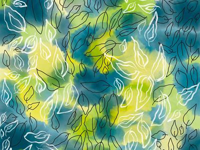 Only Leaf fabric design fabric print textile design textile pattern repeat pattern repeat design digital design digital print digital pattern surface design surface pattern graphic design digital art illustrations branding pattern print illustration
