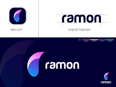 ramon logo design r logo design letter logo.