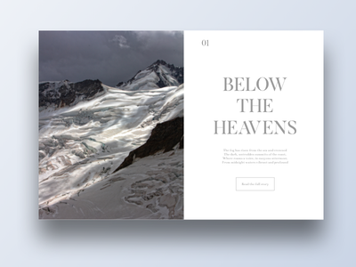 Below The Heavens webdesign blog landscape title typography minimal clean design