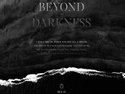 Beyond The Darkness typography clean minimal webdesign waves uidesign blog dark