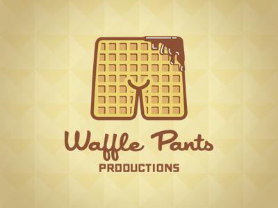 Waffle pants logo