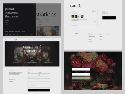 Caligrafik - other pages exploration typography clean design visual art art elegant font clean