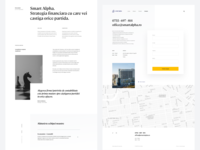 About Us & Contact page marketing site typography figma minimal branding elegant font clean design