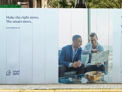 smartalpha.ro billboard chess piece elegant font business accounting elegant clean smart branding billboard design