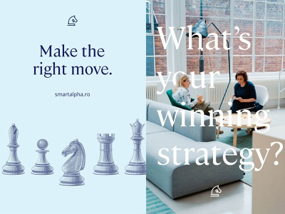 smartalpha graphics large type office meeting chess pieces typography visual design graphics poster graphic design