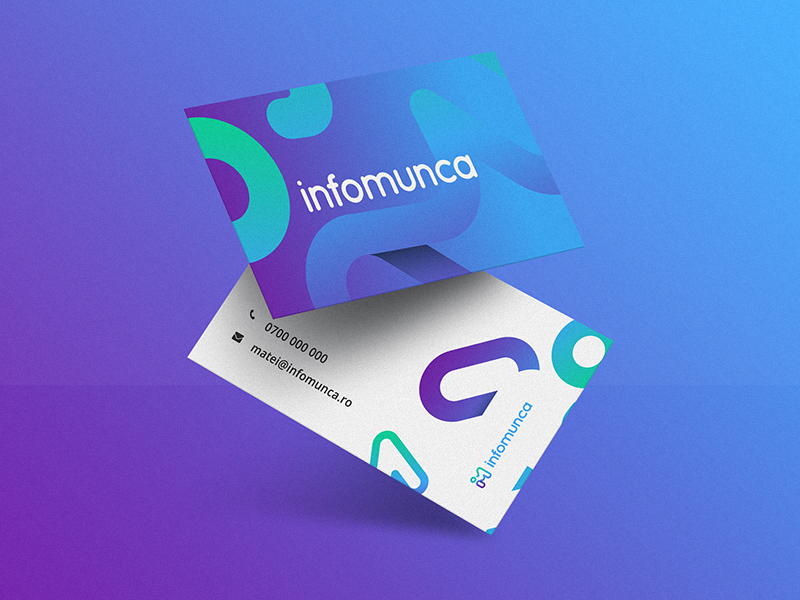 infomunca.ro biz cards print business card