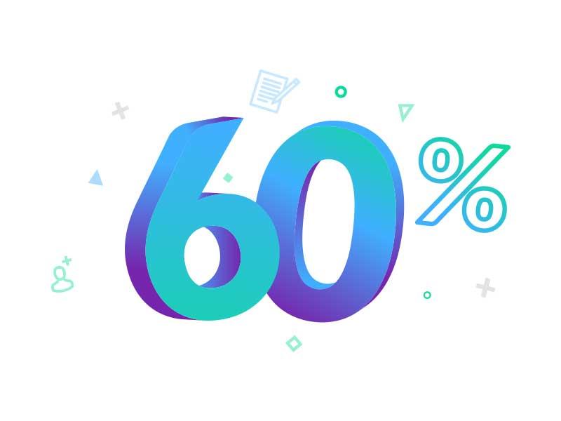 60% visual illustration email newsletter