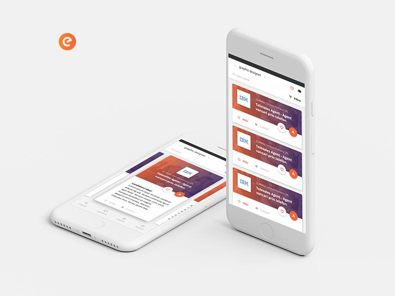ejobs candidates app - study case ejobs app mobile