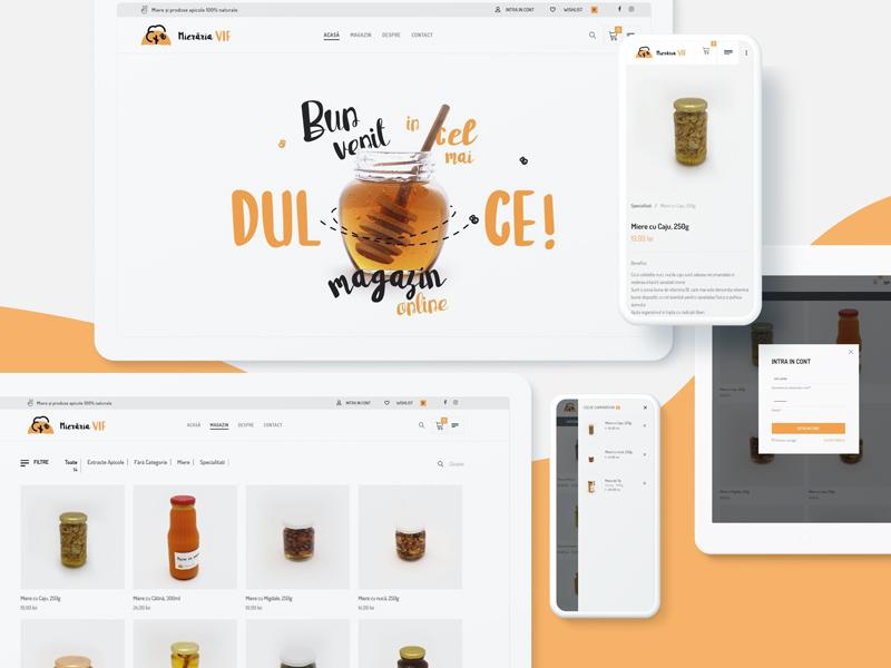 Website for VIF sweet yellow bee honey food beekeeper