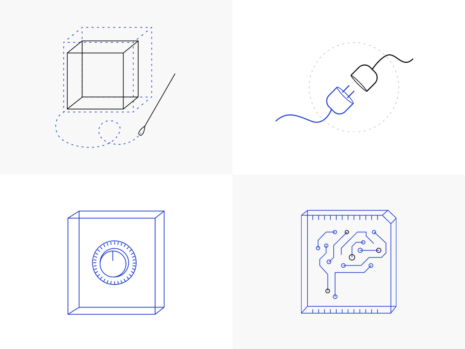 Logicluster illustrations 4x