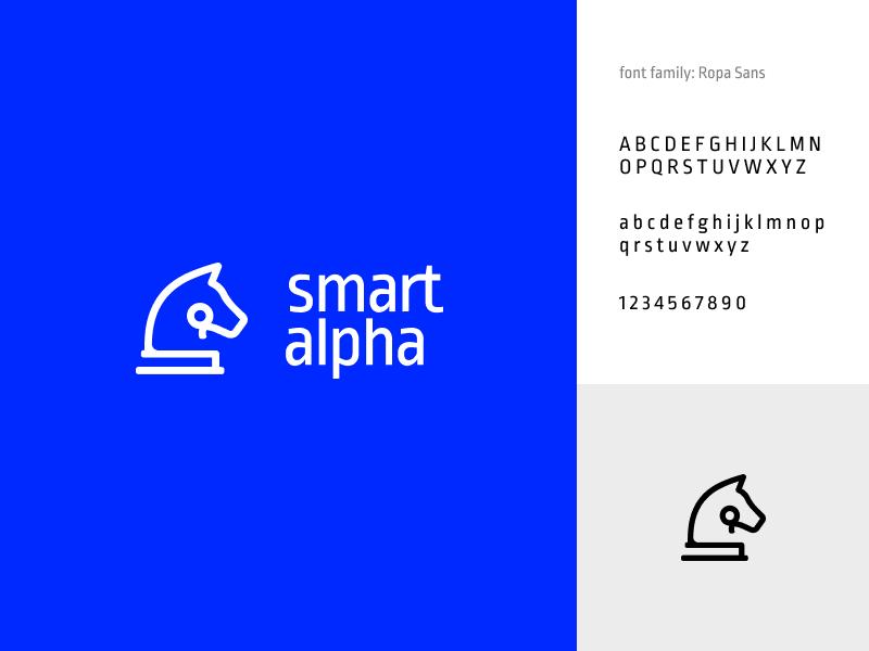 SmartAlpha Logo clean vector modern branding design logo