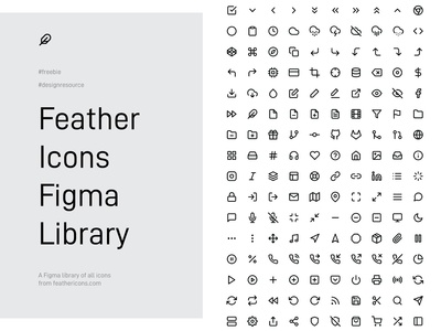 Feather Icons Figma Library - freebie