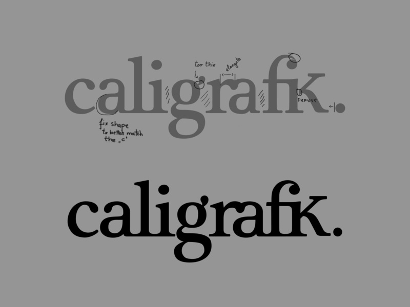 Caligrafik logo clean-up ligatures elegant serif agency branding logo design wordmark typographic logo typography