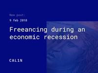 New Post: Freelancing during recession