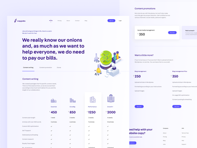 Pricing page - CopyLabs marketing site ui design figma pricing table clean pricing plan pricing page