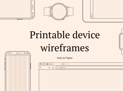 Printable device wireframes for sale - Figma library