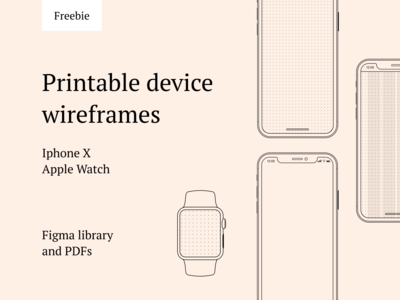 Free printable device wireframes