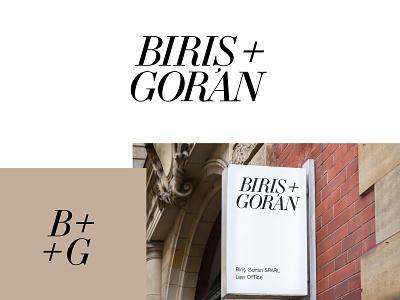 BirisGoran rebranding concept clean logo typographic logodesign rebranding branding law firm logo law firm