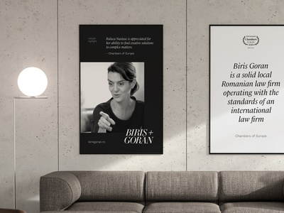 Office poster mockup for Biris Goran