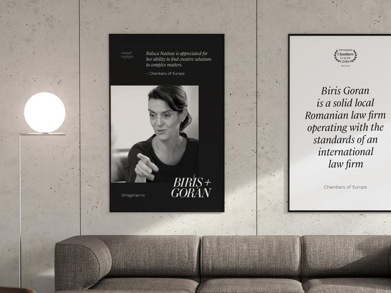 Office poster mockup for Biris Goran