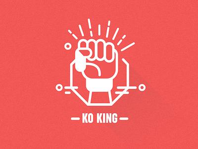 MMA Icons –KO King line art illustration publication icon symbol fight sport combat mixed martial arts mma design graphic