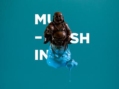 Symbols: Mushin typography paint retouch photography symbols buddhism zen mushin design art