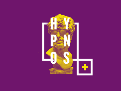 Hypnos duotone colour lettering condensed typography photography design symbols myth hypno