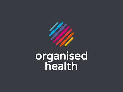 Organised Health graphic design branding healthcare health development logo