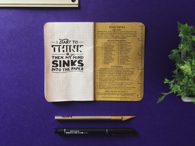 Start to think doodle scribble sketch rough field notes illustration typography lettering on sunday lettering hand drawn illustrated type