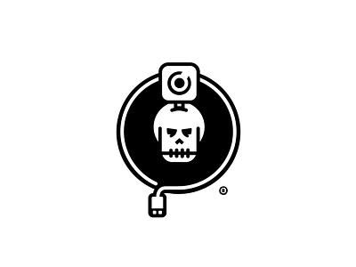 Memento Mori video identity revision mono illustration design logo capture sport extreme camera gopro