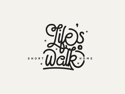 Short Walk Home doodle scribble sketch rough field notes illustration typography lettering hand drawn illustrated type
