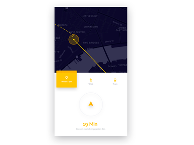 #20 DailyUI / Location Tracker ui design gps clean travel mobile interface route map tracker location dailyui