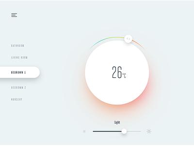 #21 DailyUI / Home Monitoring smarthome interface design app ui clean ui design control smart home temperature dashboard home monitoring dailyui