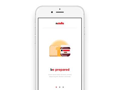 #23 DailyUI / Onboarding nutella ui user interface app mobile onboarding dailyui