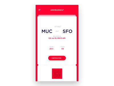 #24 DailyUI / Boarding Pass flight ticket card user interface ui app mobile boarding pass dailyui