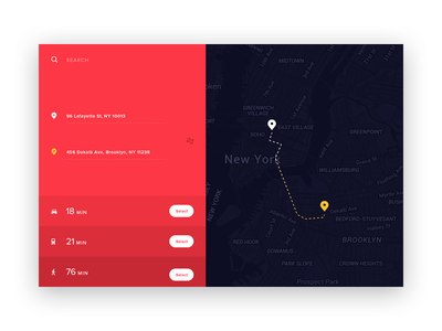 #29 DailyUI / Map distance location travel ui route user interface map dailyui