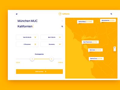 Re-imagine Lufthansa airline map flight booking travel lufthansa clean user interface ui website