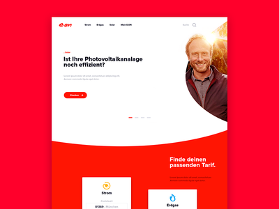 Re-imagine E.ON clean energy user interface ui eon redesign website