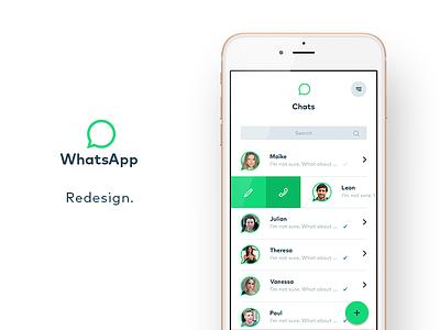 Whatsapp Redefined. chat messenger ux ui interfacedesign ios app whatsapp